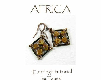 Africa beadwoven earrings tutorial