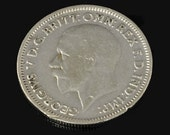 """Vintage Silver Sixpence for Wedding Day """"A sixpence in her shoe"""" Dated 1920s -1930s - Bride's Gift - Wedding Shower Gift - Something Blue"""
