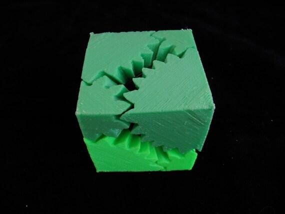 Brain Teaser Gear Cube 3D Printed