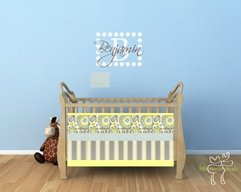 Custom Design Crib Set Quilt Bumper and Skirt / Grey White / Nuetral Baby Bedding