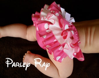 Beautiful Parley Ray Minnie Pink Polka Dots Ruffled Baby Bloomers/ Diaper Cover /Photo Prop Disney Minnie Mouse