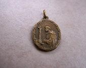 religious medal st. dominique st. thomas aquinas vintage