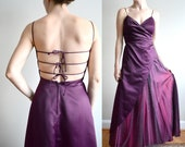 MOVING SALE! Burgundy corset prom dress. Open back. Burgundy wine.