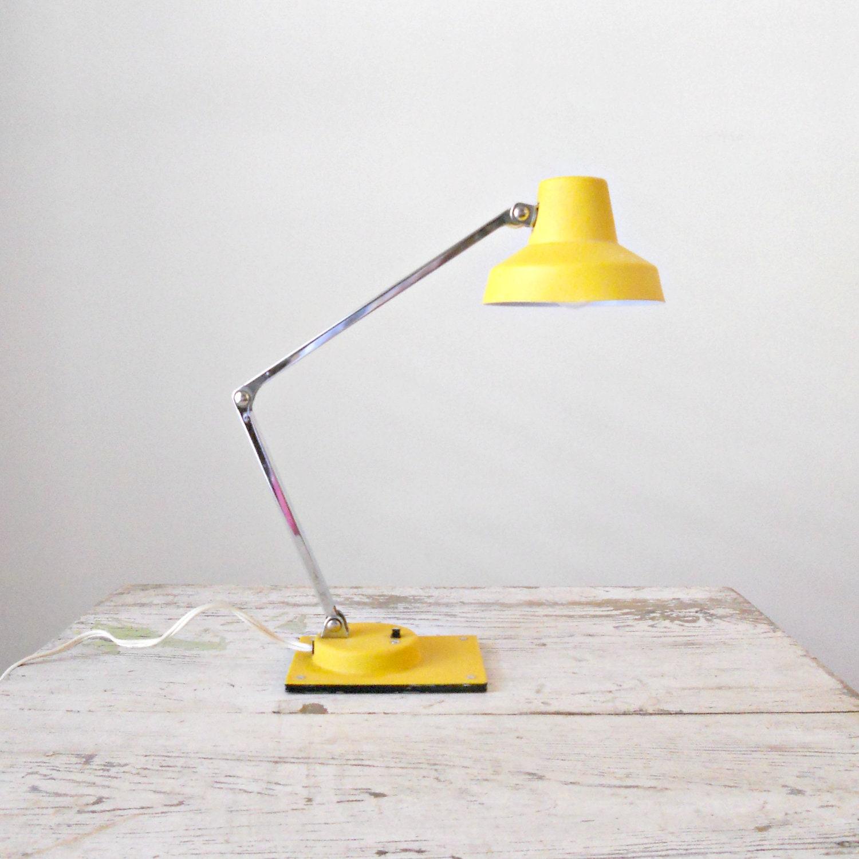 Vintage Yellow Tensor Lamp Articulating Desk Lamp