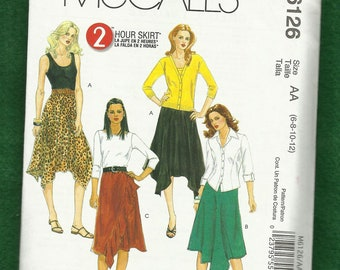 McCalls 6126 Fun Flirty Skirts with Fantastic Hemlines  Sizes 6 to 12 UNCUT