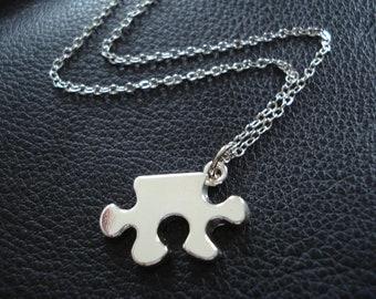 Puzzle Piece Charm Necklace