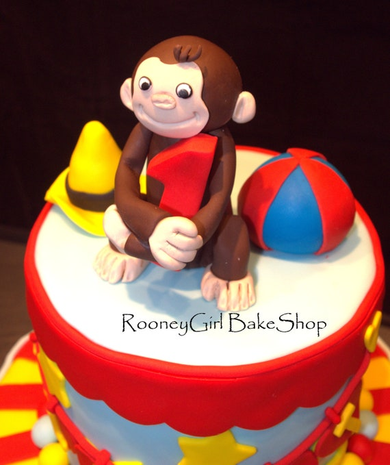 Curious George Cake Topper Edible & Fondant