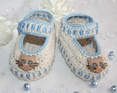Luxurious crochet booties for reborn baby doll