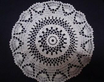 Uncommon  VINTAGE LACE DOILY Hand Crochet Decorative Lace