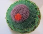 Wool Felt Finger Pincushion OR Fabulous Fiber Art Ring