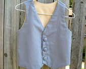 Baby Boys Reversible Vest - Grey and Tan - Sizes Newborn -24 Months