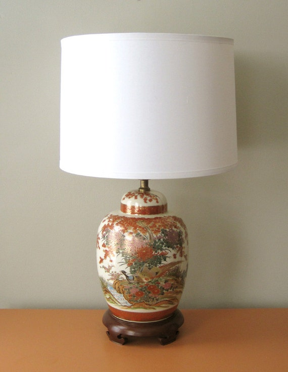 RESERVED for PAULA - Pair of Vintage Chinoiserie Lamps