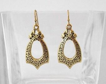 Victorian Door Knocker Dangle Earrings