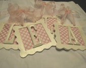 Nursery Letter Plaques- Listing for Laura