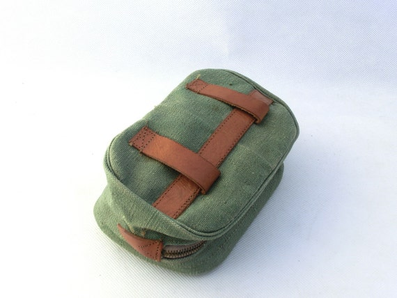 Vintage canvas / leather hip pocket belt