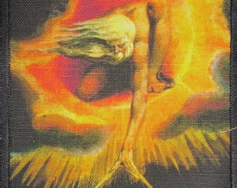 Printed Sew On Patch - ANCIENT OF DAYS - William Blake 1757-1827 The Creation Medium