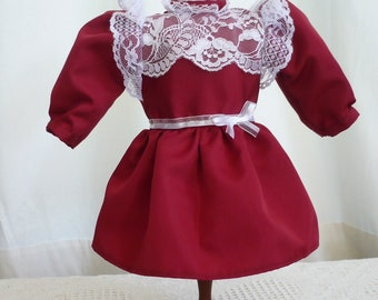 Red Taffeta Party Dress for Samantha American Girl Doll