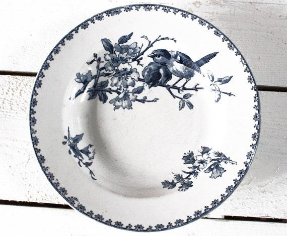 "French BIRDS Plate ""FAVORI "" Sarreguemines"
