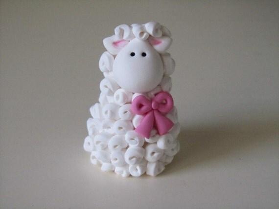 Polymer Clay Lamb Figurine