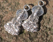 Kwan yin drop pendant in pewter