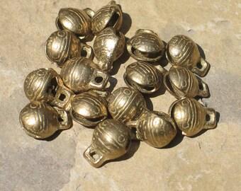 Tiny brass Tibetan style bells: 10mm