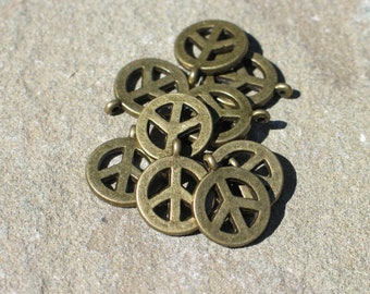 Brass peace with these pendants