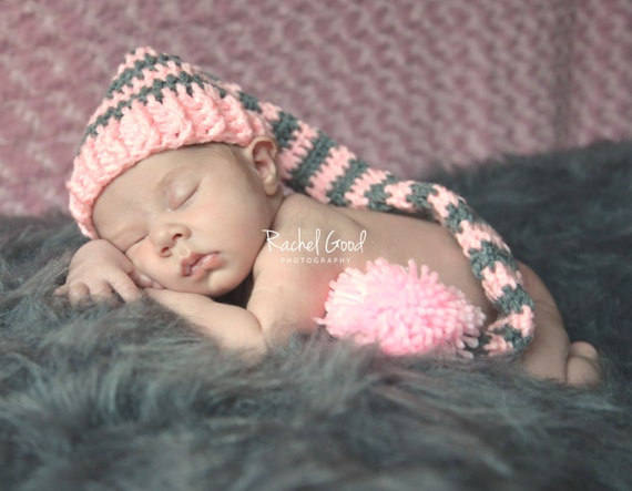 Free Crochet Pattern Long Elf Hat : Baby Crochet Long Tail Elf Hat Baby Crochet Elf Hat by ...