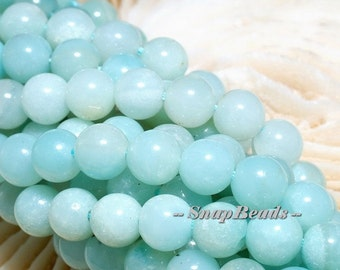 6MM Aqua Berry Peruvian Amazonite Gemstone, Blue, Round 6MM Loose Beads 8 inch Half Strand (10233716-39)