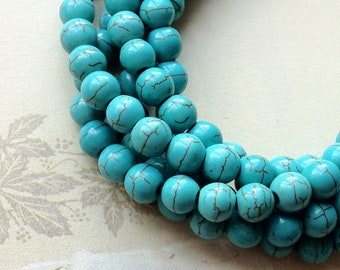 8 mm Turquoise Gem Stone Beads(.si)