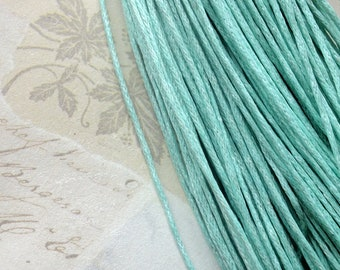 1 mm Pepper Mint Green Colour Waxed Cotton Cord (.mcc)
