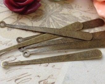 38 mm Antique Bronze openwork metal slice long drop pendant charms Long Pendants (.mg)