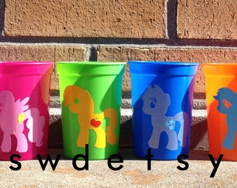 My Little Pony Party Cups, Party Favors, Set of 6