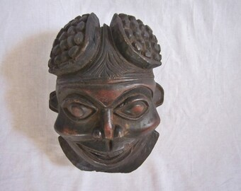 Vintage Chinese Carved Wood Mask