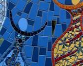 """Mosaic Art """"Eternal Dance""""  Mixed Media Art"""