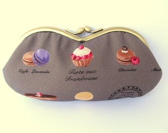 Eyeglass Case - Sunglass Case - Glasses Case - Soft Eyeglass Case - Sunglasses Case - Macaron Paris