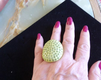 Huge Bakelite, Rhinestone Ring