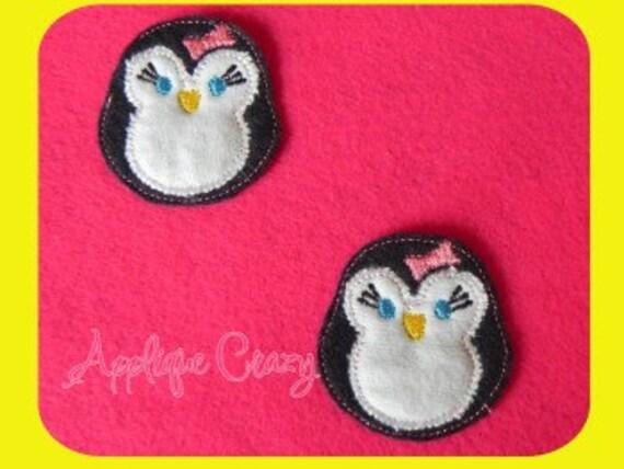 Girly Penguin feltie Applique design