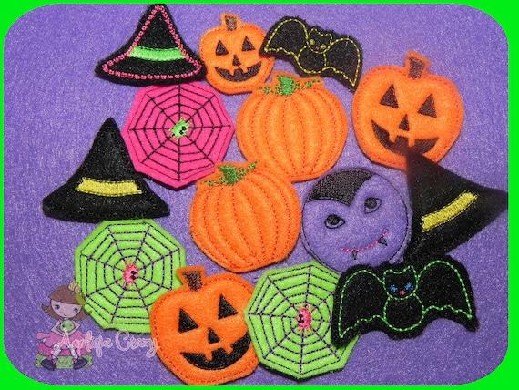 Halloween feltie Pack embroidery design