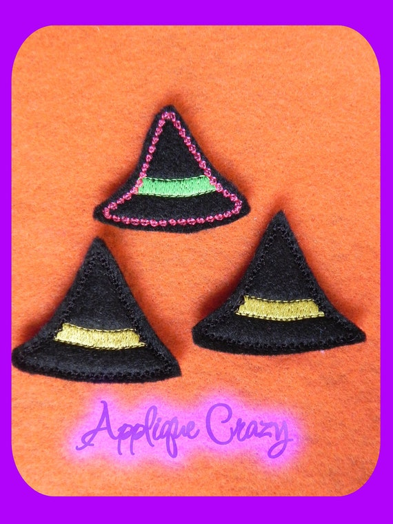 Witch hat feltie embroidery design