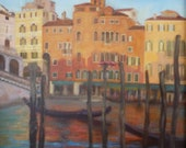 Ricordi: Grand Canal of Venice at Sunset Oil Painting Giclee Print