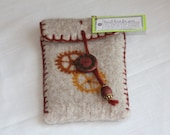 Wool Felted Pouch - Steampunk