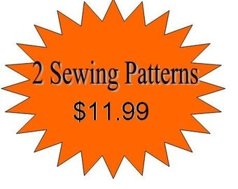 2 Girls Dress Pdf  Sewing Patterns - Any 2 Patterns in my Shop for 11.99- Offer ends soon