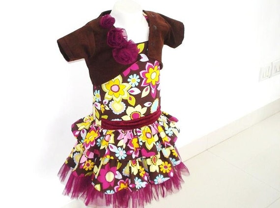 Girls Dress Pattern, pdf sewing pattern, Toddler Pattern, Holiday Dress with Shrug