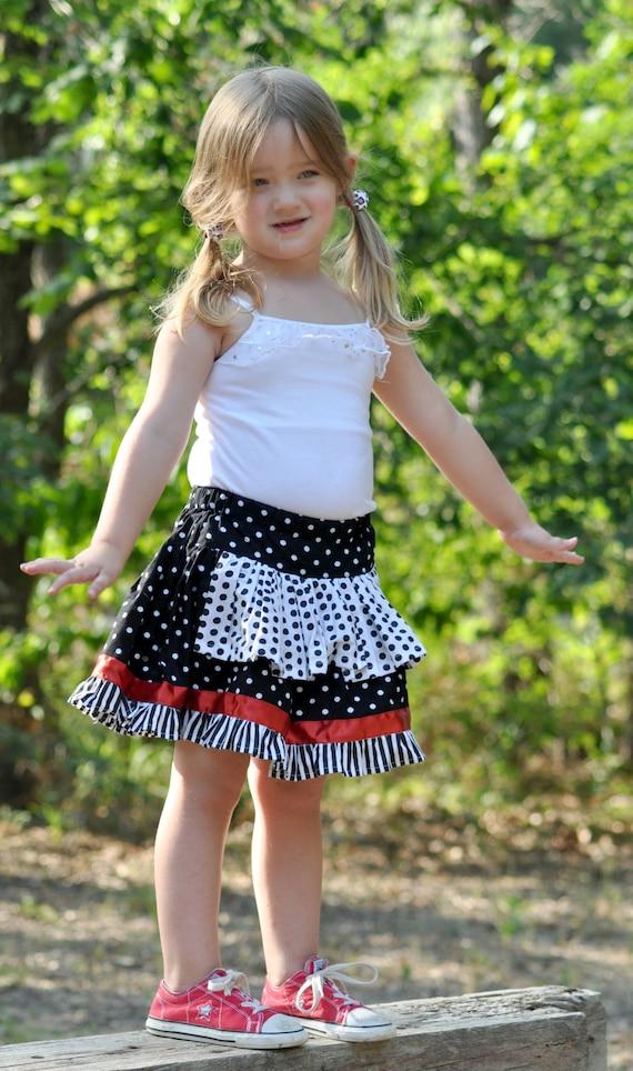 Girls Skirt Sewing Pattern, Pdf Pattern, Twirl Skirt, Ruffled, Apron Skirt, 12 months to 10 Years