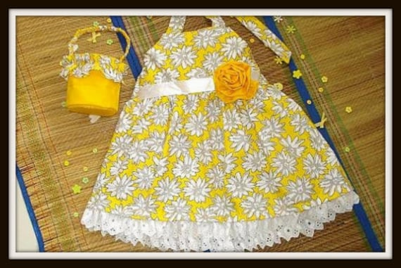Girls Sewing Pattern Dress , Easy Girl's Sun Dress (pdf pattern), 2 to 10 years