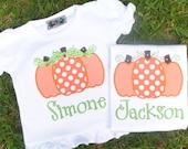 Pumpkin Trio Initial Shirt