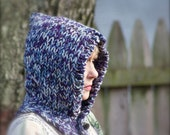 Women's Blueberry Fashion Multicolored knitted Riding Hood