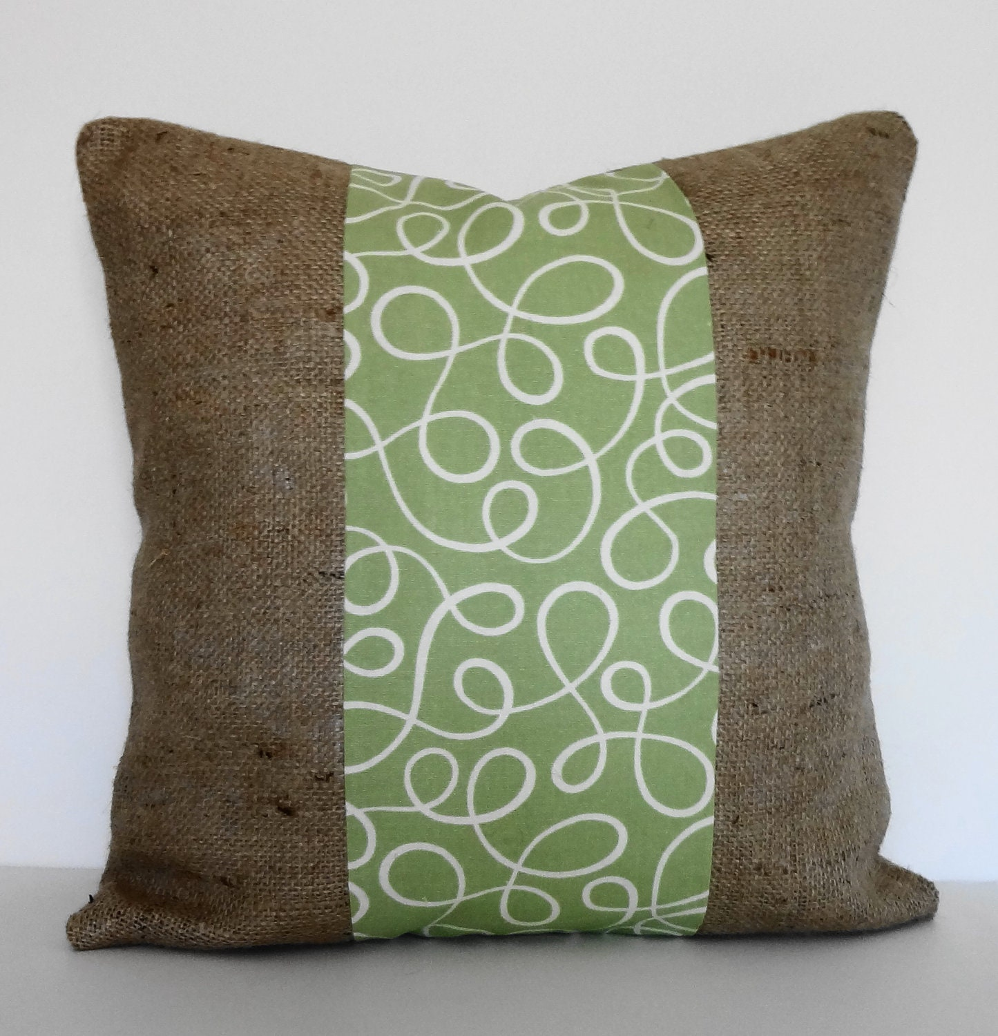 Decorative Burlap Pillow Covers : Burlap Sage Green Decorative Pillow Cover P Kaufmann Throw