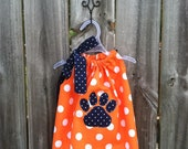 Auburn Baby Bubble with Tiger Paw Applique