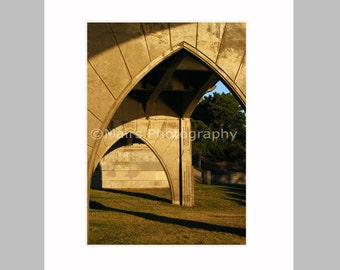Arches Bridge Newport Oregon Abstract Patterns Architecture Masculine, Original Photograph, Fine Art Photography signed matted 5x7 print